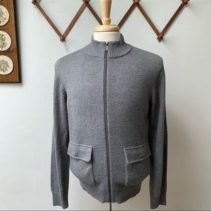 Michael Kors Wool Zip Sweater